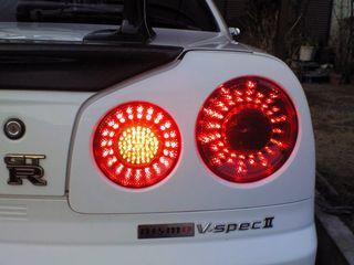 自動車のLEDバックライト