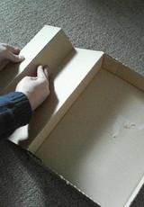 7センチの切り込み線で折る