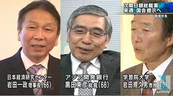 日銀総裁候補