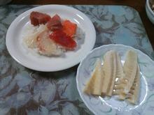 海鮮チラシと筍