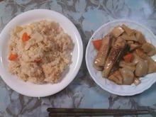 ご飯と煮物