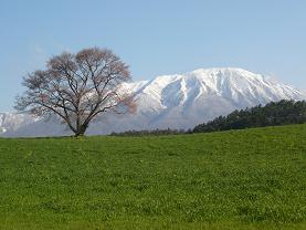 岩手山を背景