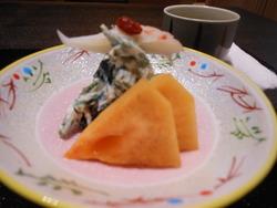 柿青葉カニ白和え