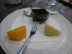 ラ・フランス、柿、ブドウゼリー