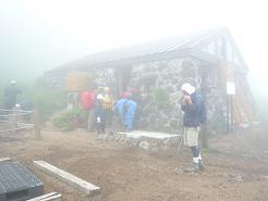 ガスと暴風雨の小屋