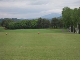 コース 姫神山が雲で隠れていました
