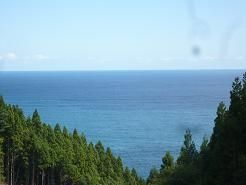 気仙杉林の向 三陸ブルー海