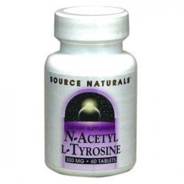 N-アセチルL-チロシン300mg:60タブレット【甲状腺の健康】