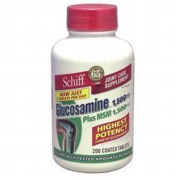 グルコサミン・HCl 1500mg Plus MSM 1500mg:200タブレット【関節痛の薬】