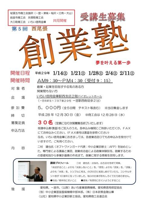 西尾張創業塾受講生募集!