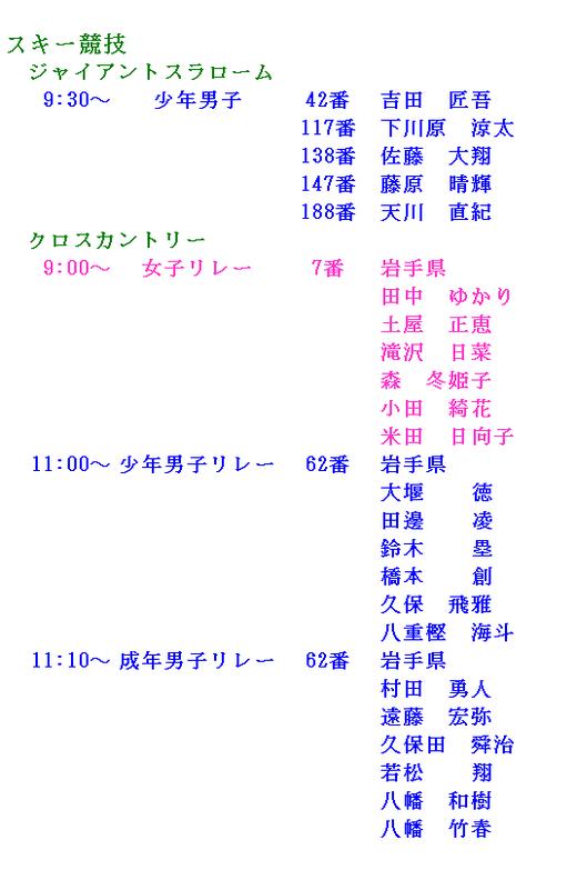 2-28 出番表
