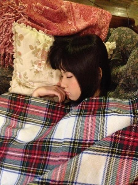 ぱるる寝顔