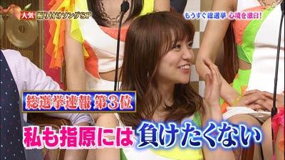 総選挙速報、大島優子、指原には負けたくない