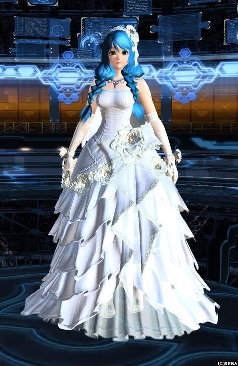 ウェディングドレス前