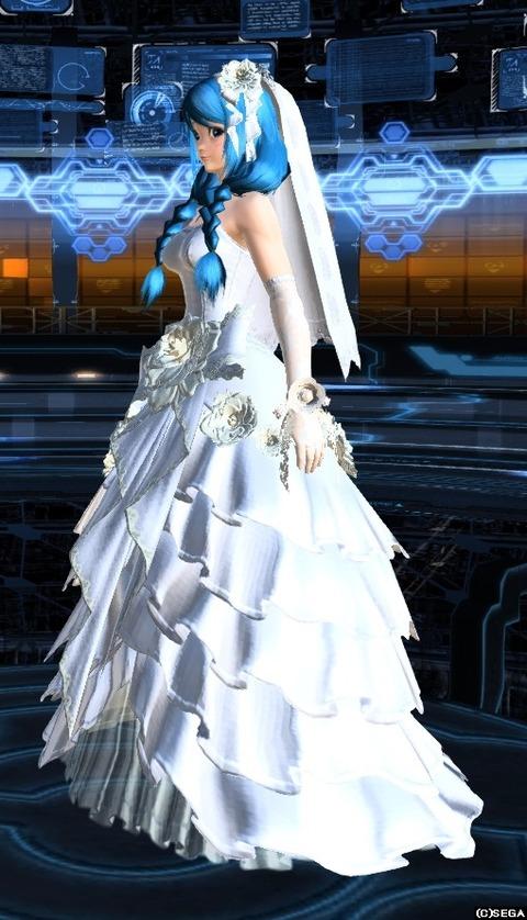 ウェディングドレス左