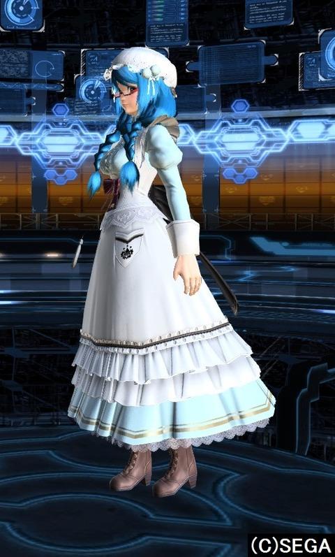 クラシックメイドドレス左