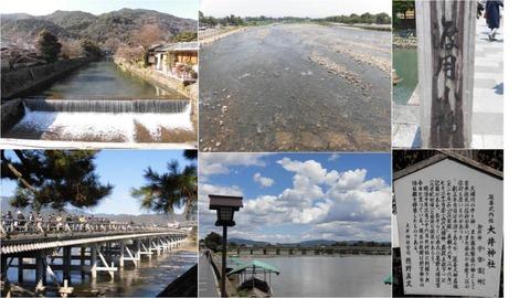 渡月橋と桂川