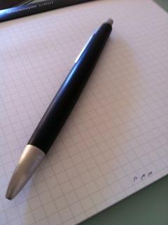 漢字を書かない国のペン
