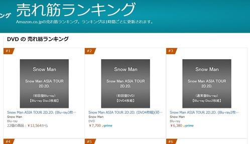 最新 売上 枚数 snowman グラン ドール