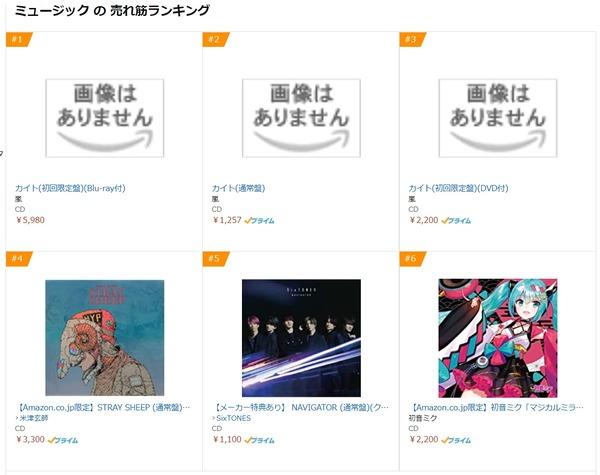 Amazon音楽ベストセラー