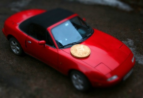 car-with-coin-illusion