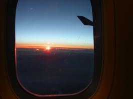 夕陽@帰りの飛行機