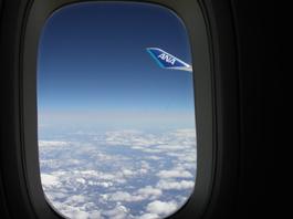 上空@帰りの飛行機