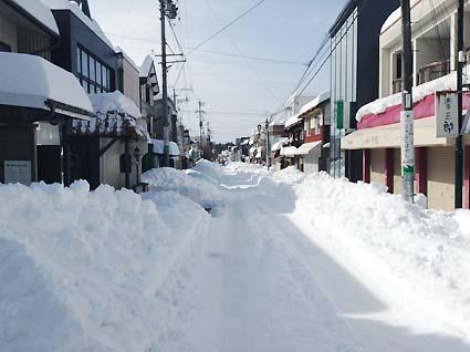 軽井沢旧道大雪