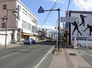 須坂駅前風景