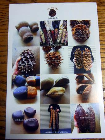世界の木の実と雑貨小林商会ポストカード裏