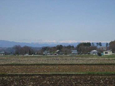 御代田から見た北アルプス