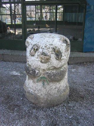 パンダの石仏