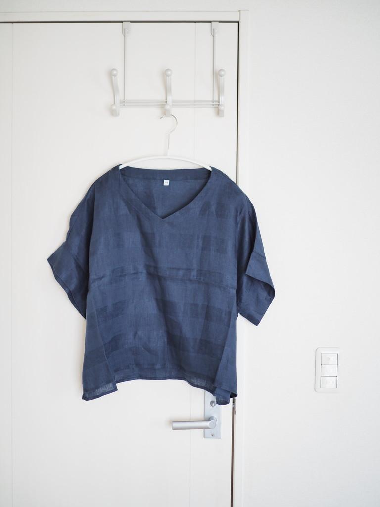 フレンチリネン洗いざらし半袖ワンピースを10%OFFのお値段で購入してきました!