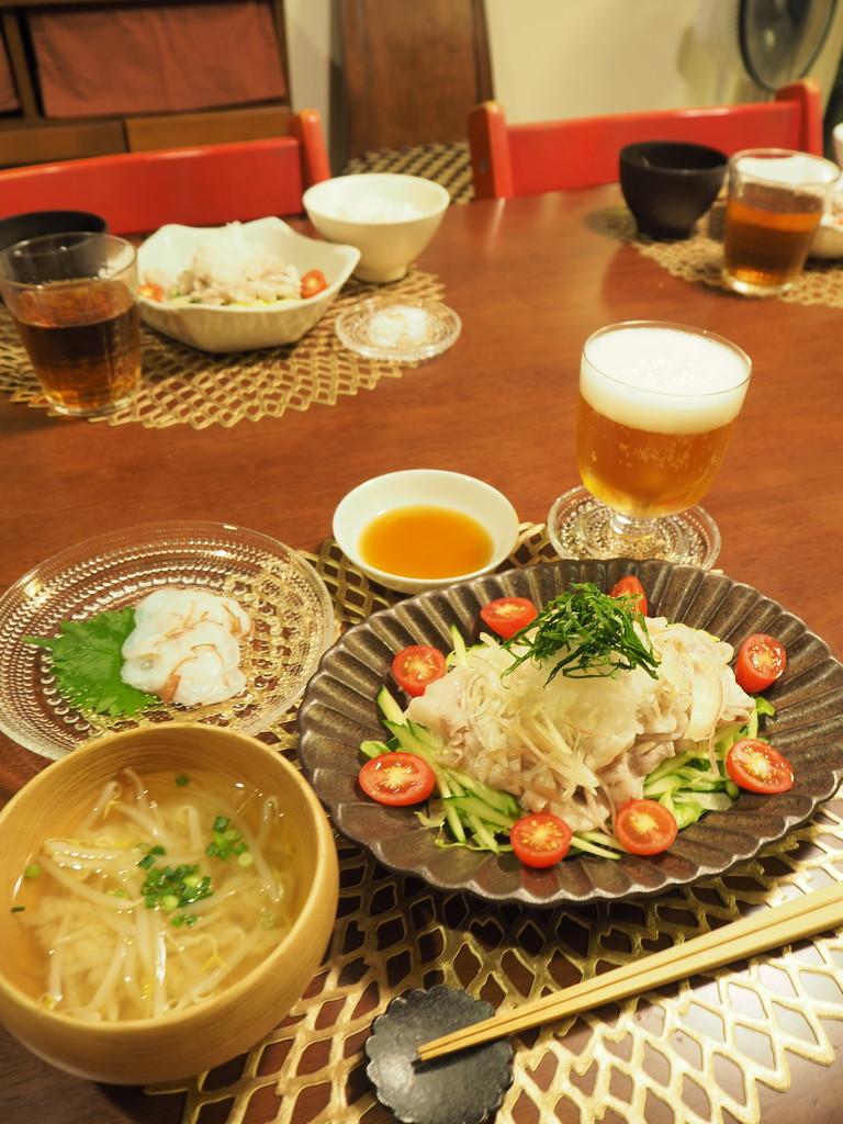 暑い 日 の 晩 御飯