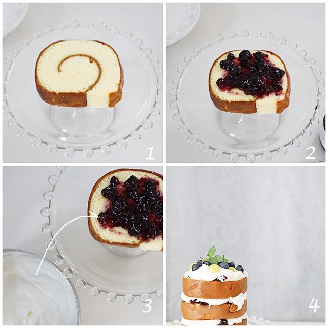 ケーキ組み写真