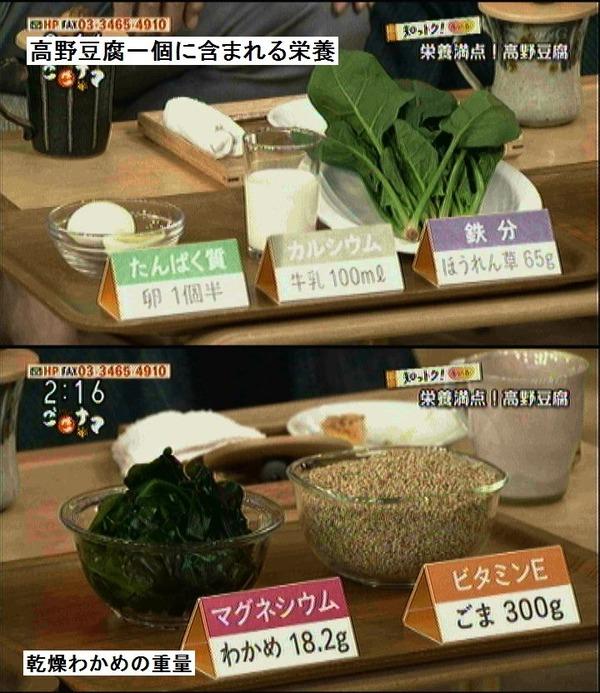 高野豆腐に含まれる栄養がすごかった