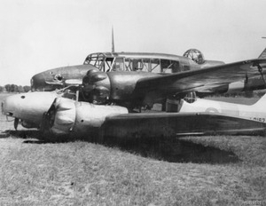 Two_Avro_Ansons_-piggyback-_in_a_paddock_near_Brocklesby_1
