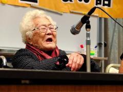 少女像巡る首長発言に抗議 元慰安婦、川崎で証言