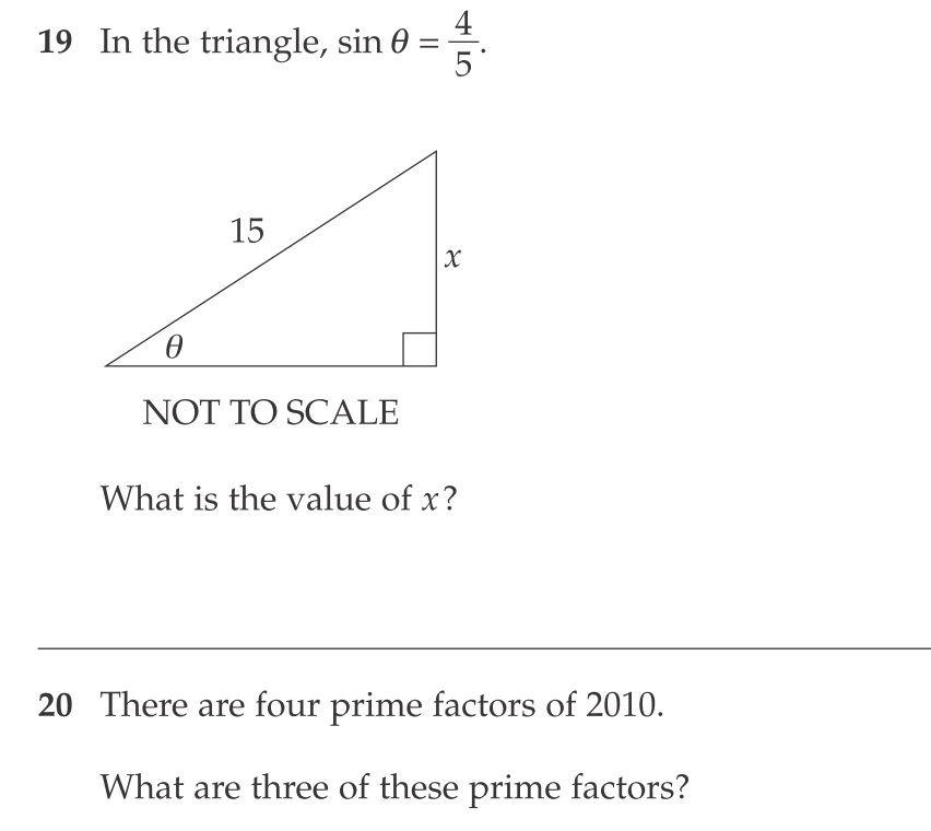 math q19-20