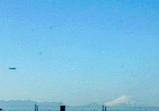 お正月の富士山と飛行船