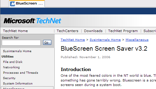 Microsoft Blue Screen