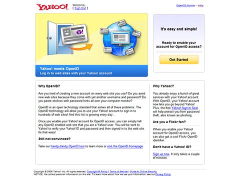 Yahoo! OpenID (beta)