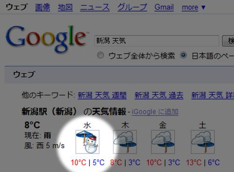 Google天気予報