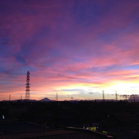 20130917-台風一過の夕焼けの写真-02