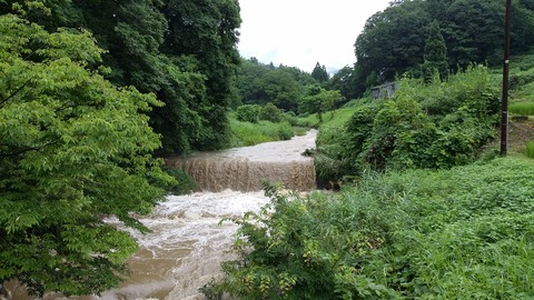 穏やかな川も大暴れ