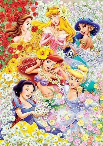 ディズニープリンセスお花だらけ