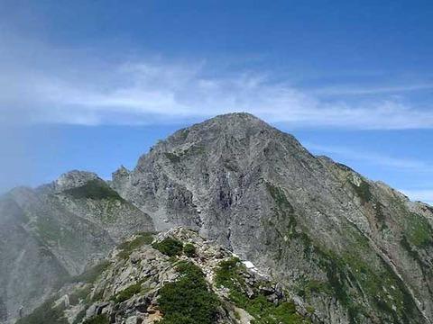前剱から剱岳本峰
