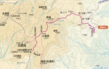 赤岳登山口〜白雲岳避難小屋
