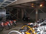 自転車置き場警告灯