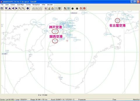 地図カスタマイズ後(関空、神戸、名古屋追加)
